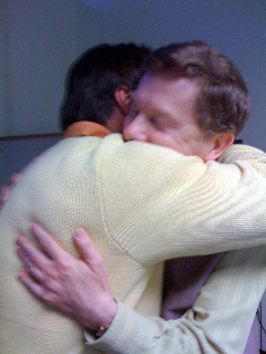 Chris & Eckhart hugging