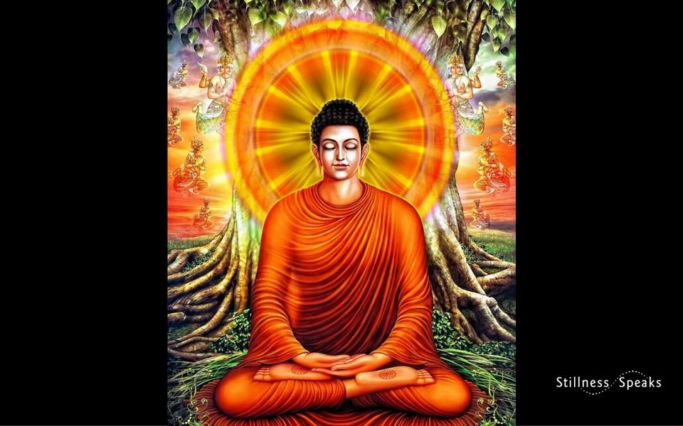Buddha with halo
