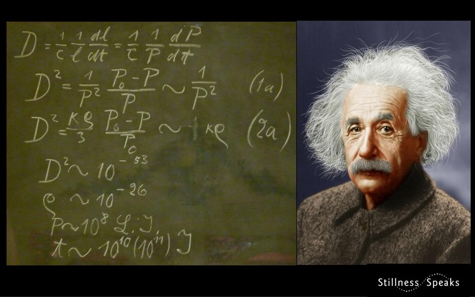 Einstein and his chalkboard