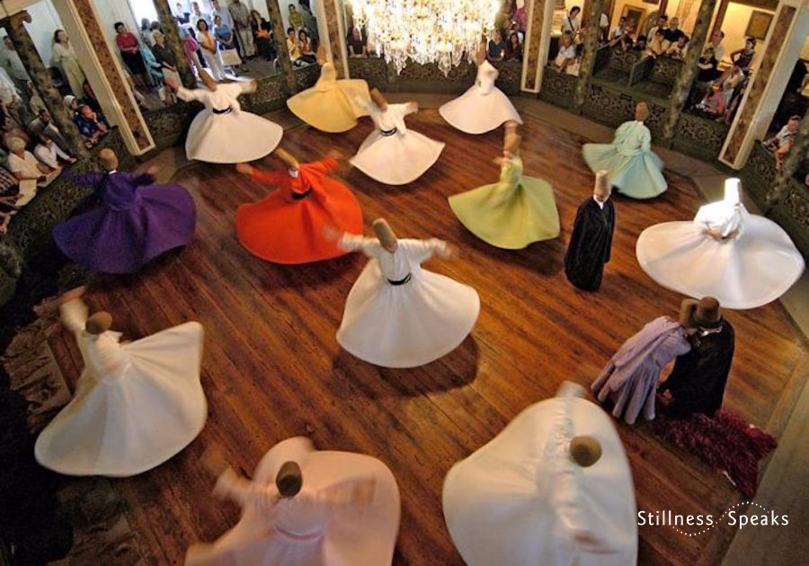 Turning Whirling Dervishes