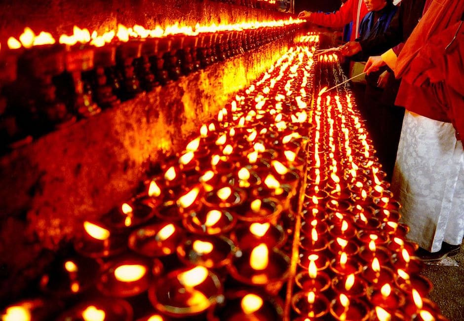 Tibet Light Butter Lamps