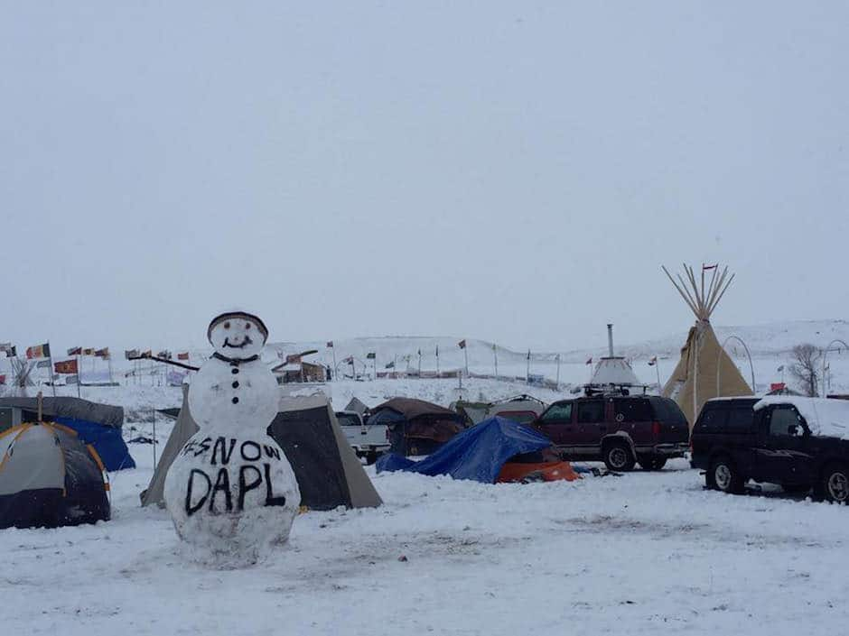 sacred stone camp at standing rock