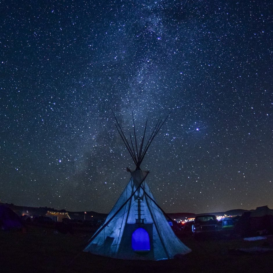 Standing Rock night