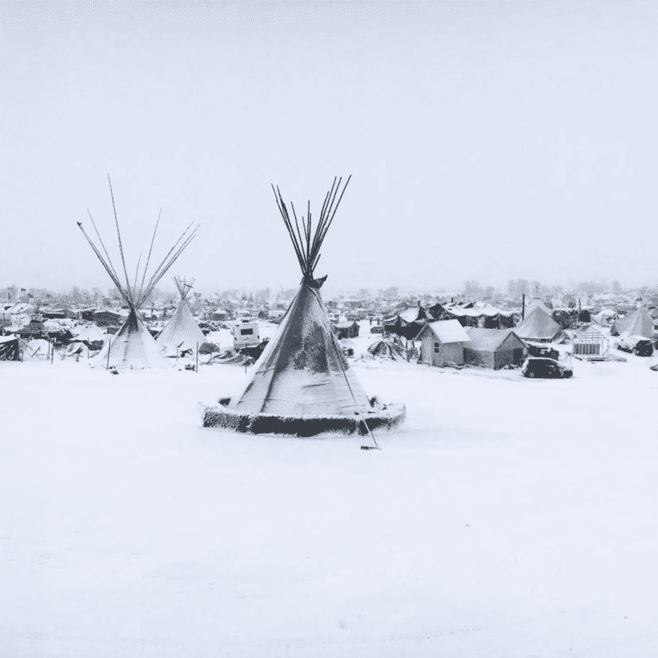snow at oceti sakowin