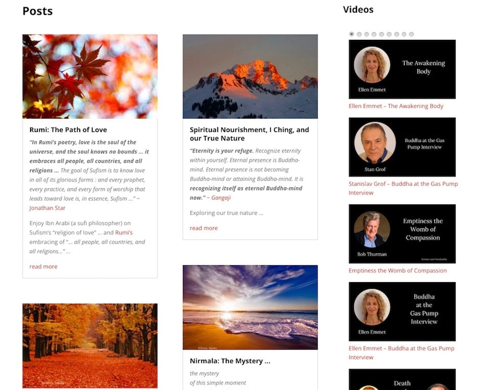 Posts - blog and video
