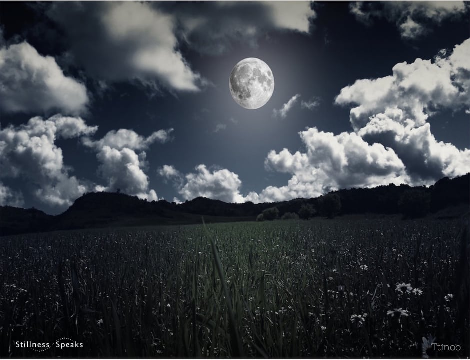 moon, clouds, night sky