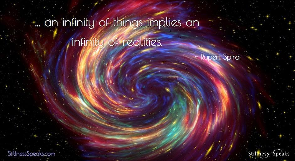 Infinity, reality