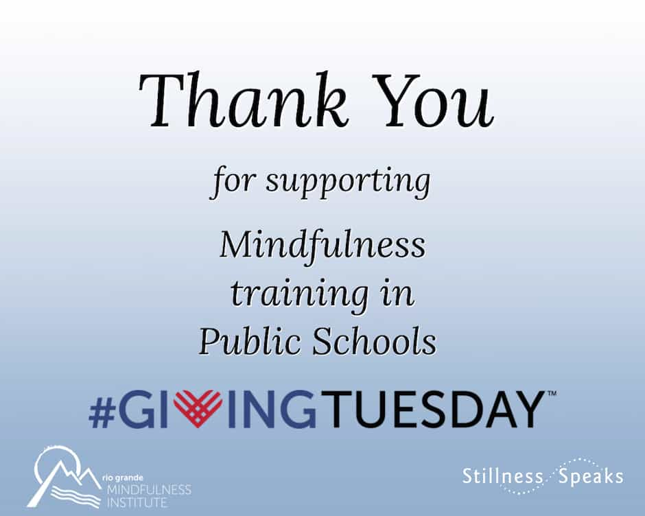 giving tuesday mindfulness public schools