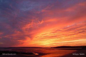 sunset clouds awakening zen shukman