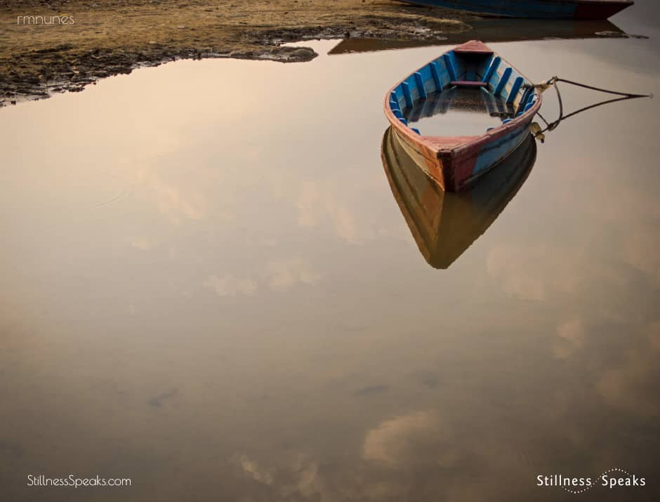 boat stillwater reality quiets mind nirmala