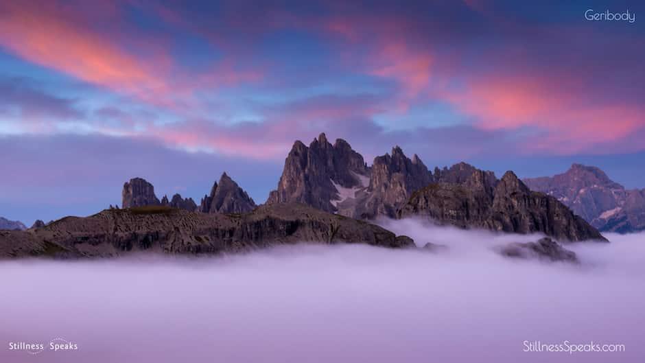 awareness mountains clouds amidon