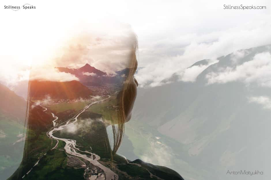 awareness nearness amidon girl silhouette landscape