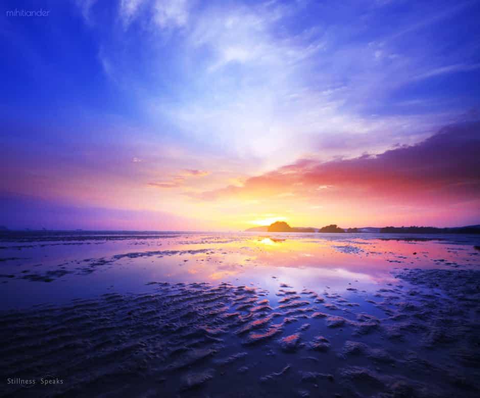 sunset peace emptiness within nirmala
