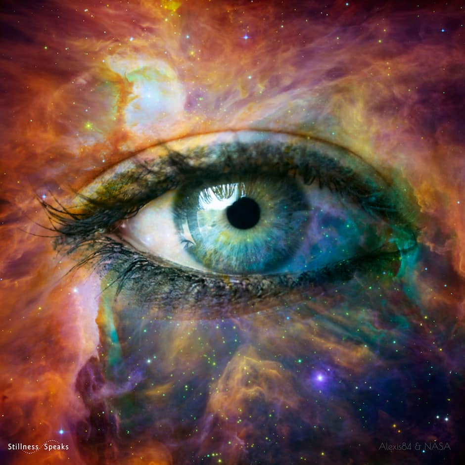 space eye emptiness within nirmala