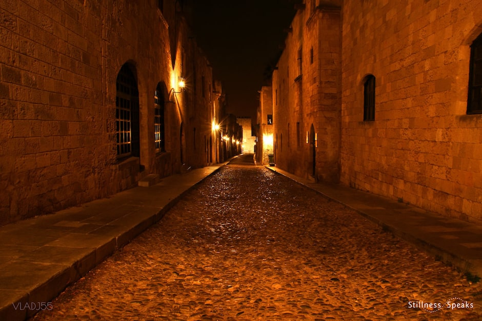god everywhere empty cobblestone streets veysel
