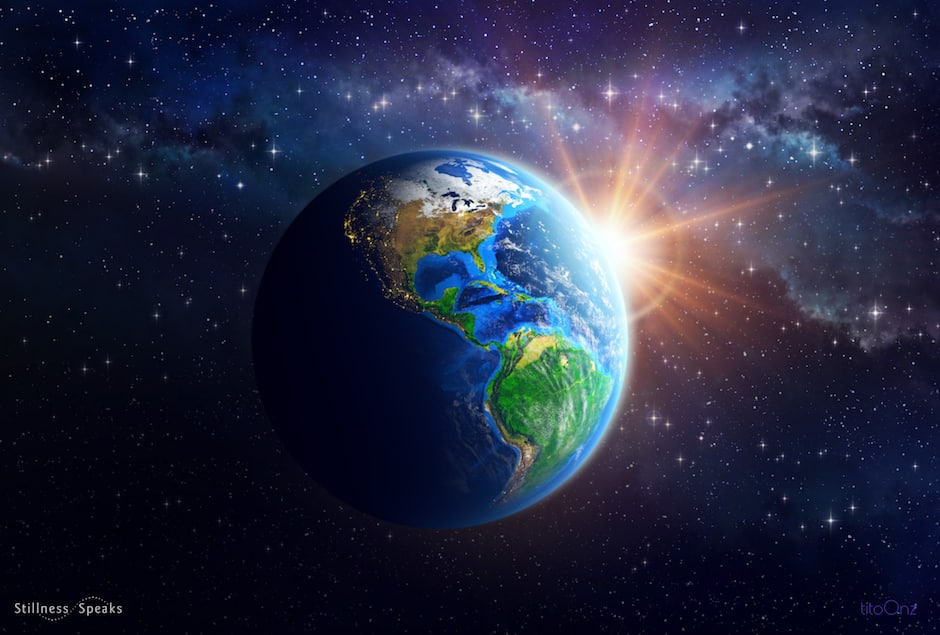 peaceful earth heavens planet earth outer space