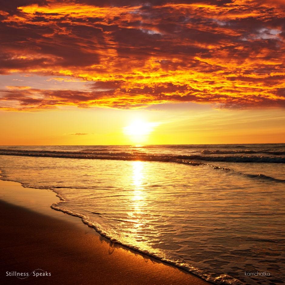 sea sunset present moment timeless eternal lucille