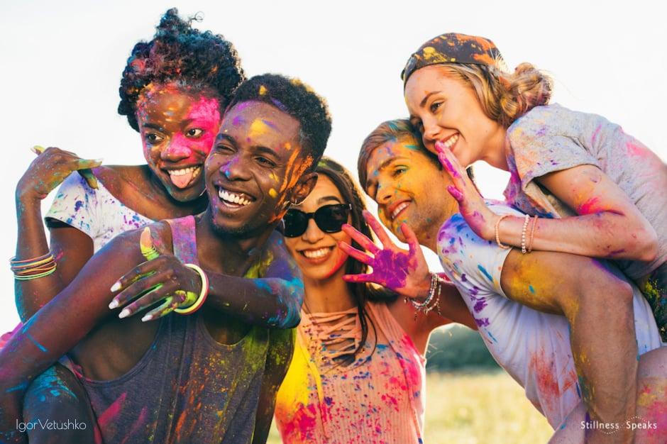 multicultural friendship holi ocean love rumi