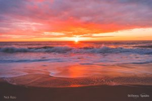 sunset shore ocean love rumi