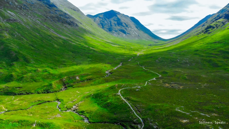 Glencoe, Scottish Highlands return thanks earth teach ute
