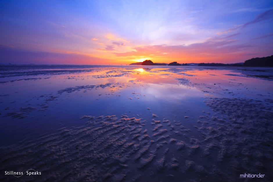 low tide sunset equanimity love thich nhat hanh