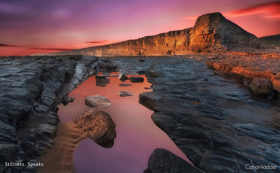 sunset nash point joy silence hafiz