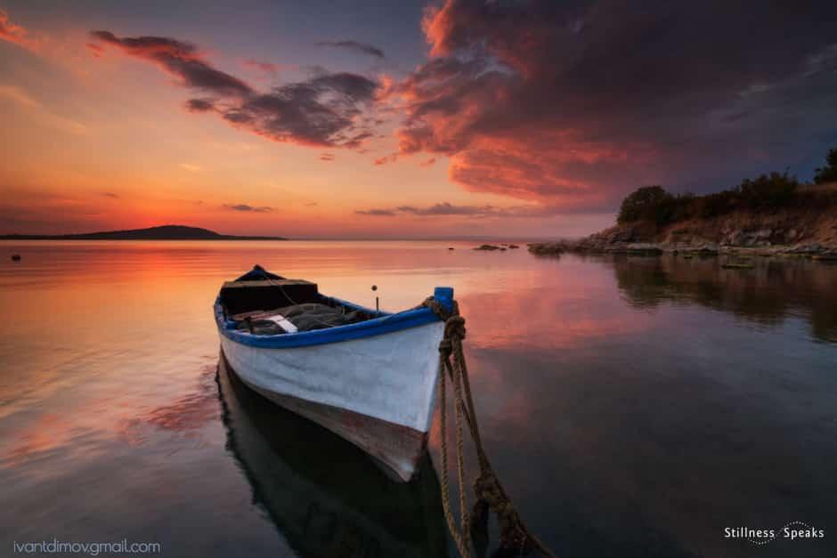 boat beach stillness presence tollifson