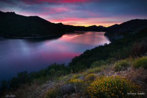 sunset lake serenity tzu
