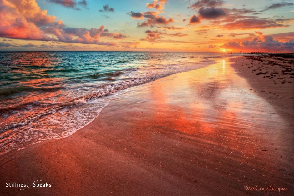 sunset unicity ocean every wave tollifson
