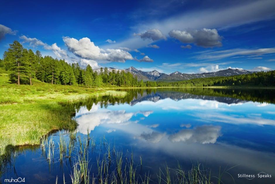 mountain lake still pool calm heavens my beloved j krishnamurti