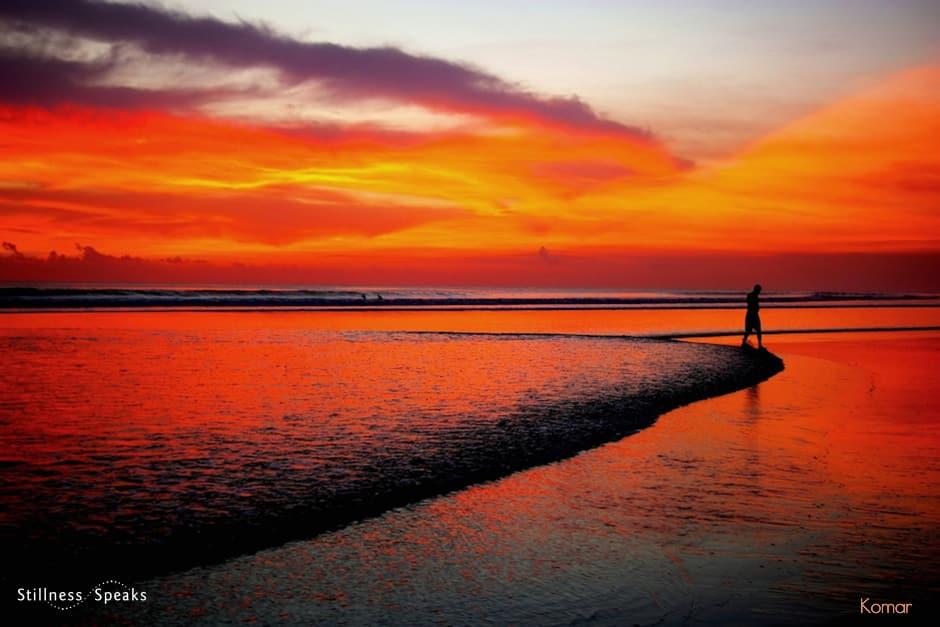 beach sunset wisdom right view shukman