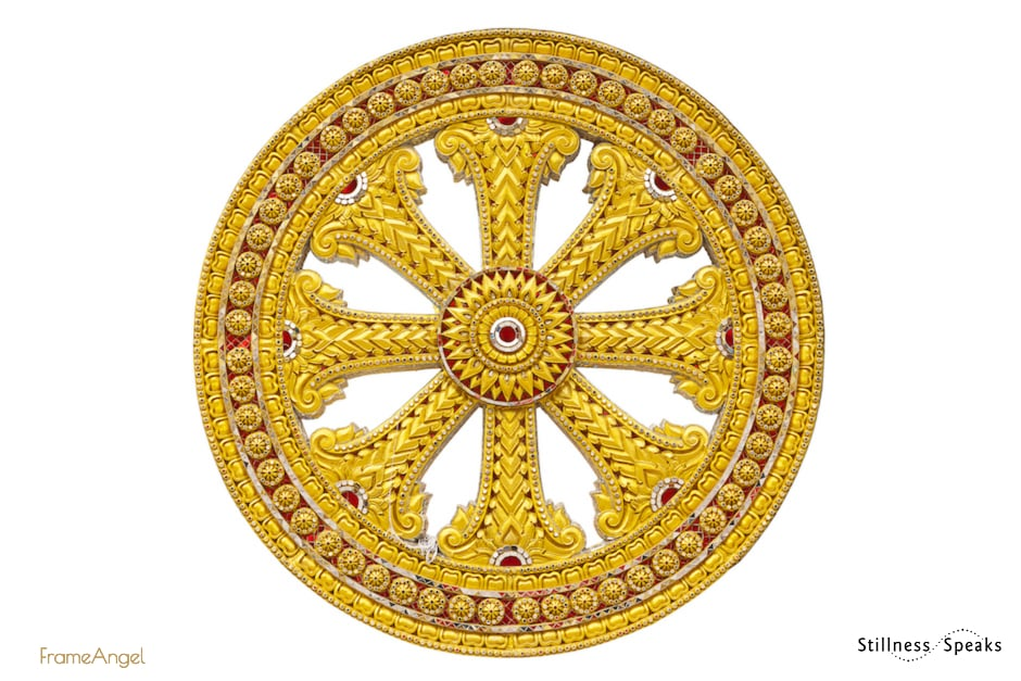 Buddhism wheel symbol