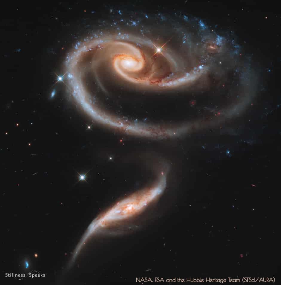 interacting galaxies ARP273 history of love amidon
